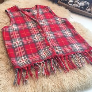Vintage Faded Glory Size S Flannel Vest